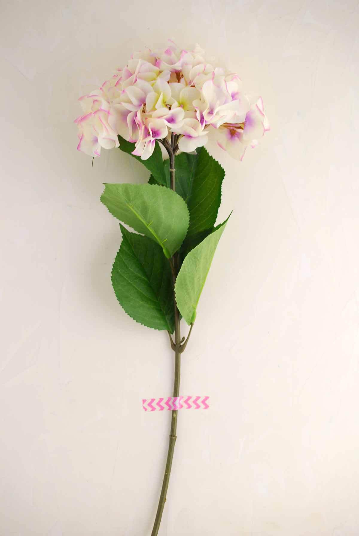 Silk Cream Lavender Hydrangea Spray With 8in Bloom
