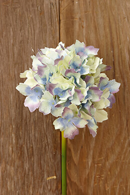 Blue Silk Hydrangea Flowers 14in