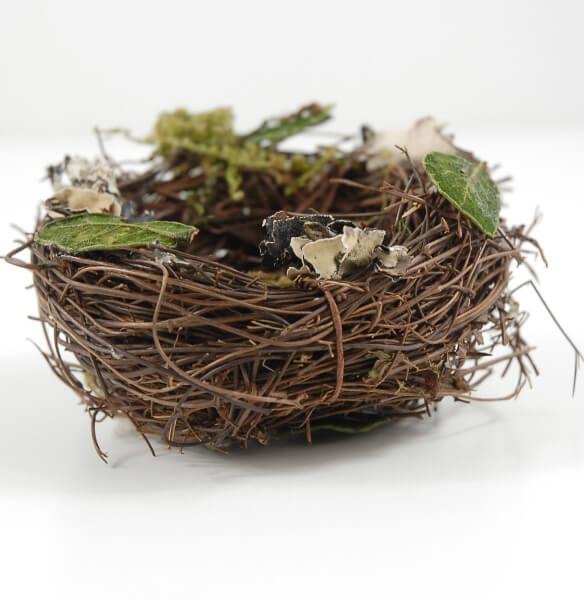 Bird Nests 3 x3 Angel Vine Leaves, Moss & Lichen