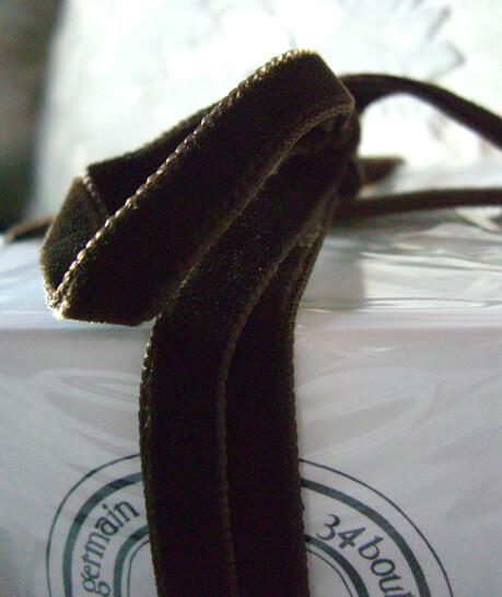 Brown Italian DF Velvet Ribbon  3/8in x 11.5ft