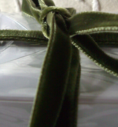 Olive Green Italian DF Velvet Ribbon   11.5ft