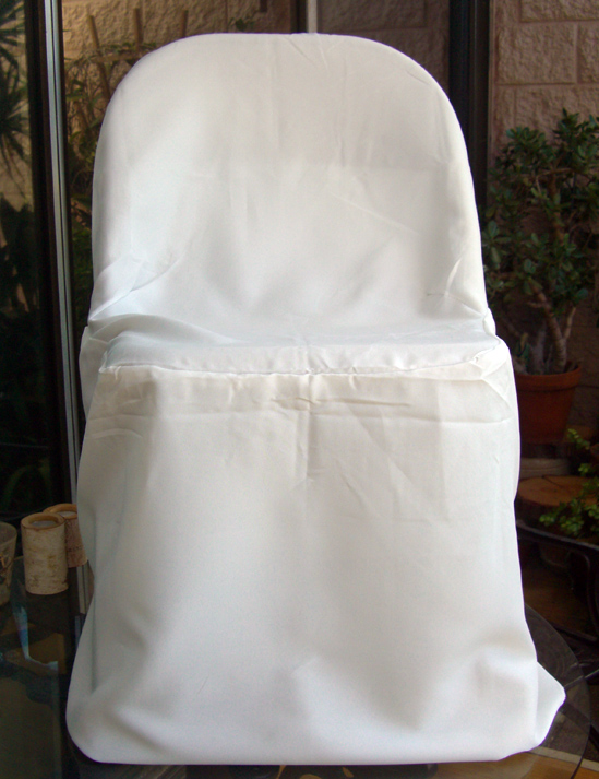 Ivory Folding Chair Covers Pack of 10