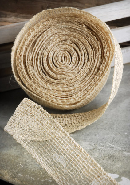 Jute Burlap Ribbon Ivory 2in X 10yds