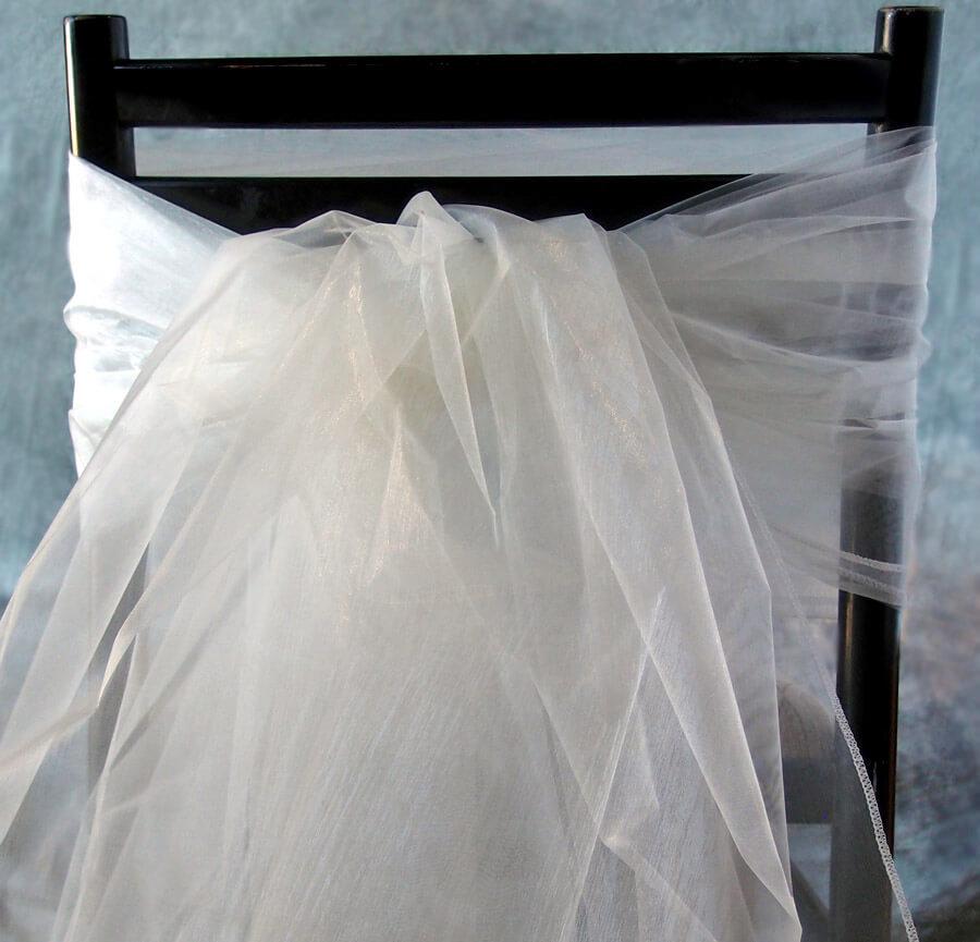 """Organza Fabric Ivory 54"""" wide x 9 feet"""