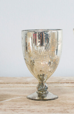 "Silver Mercury Ivy Vase  6.75"""