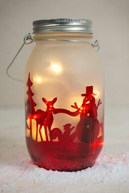 Christmas Mason Jar Lantern LED Lights