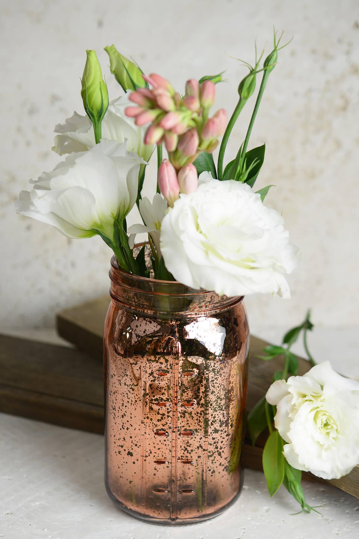 Rose gold mercury glass mason jars pink rose gold mercury glass mason jars reviewsmspy