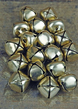 18 Gold Bells 1 inch size