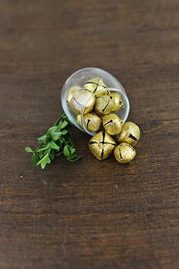 54 Gold Glitter Bells