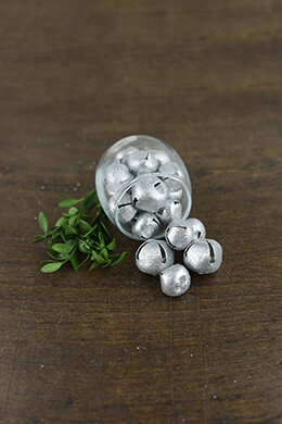 54 Jingle Bells Silver Glitter
