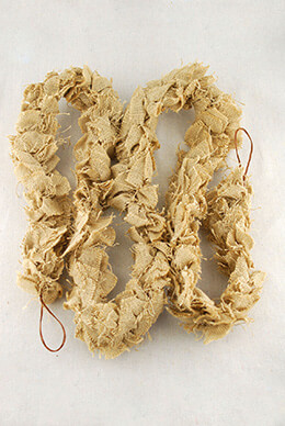 Burlap Fabric Garland 84in