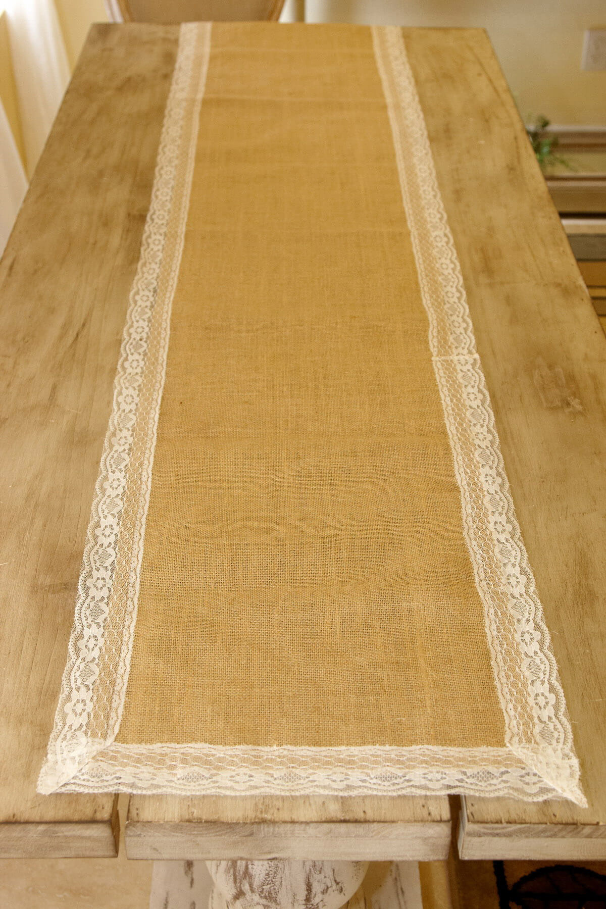 Burlap Amp Lace Table Runner 16 X 74in