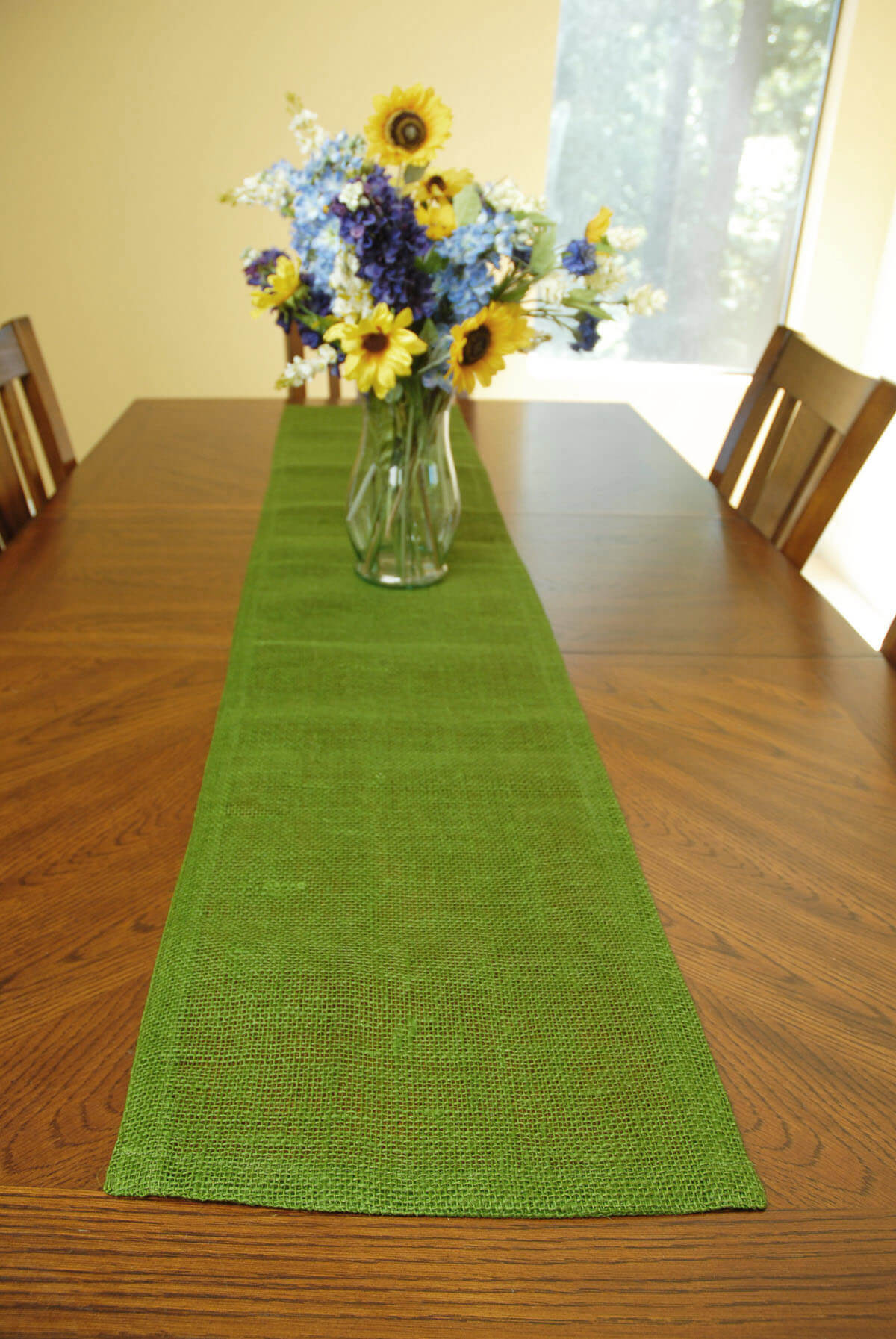 Jute Table Runner Green 14x72in