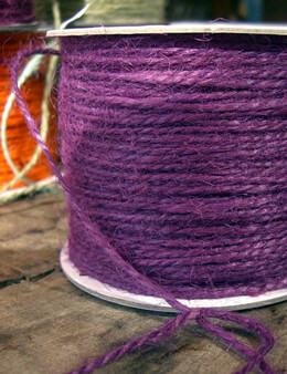 Jute Twine Purple Plum 100 yards