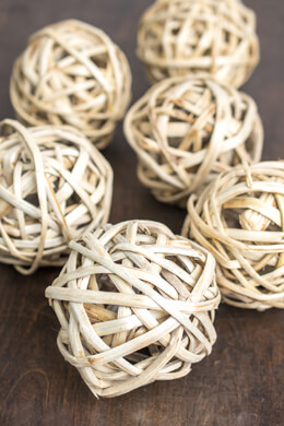 Twig Balls Natural 4in (Pack of 6)