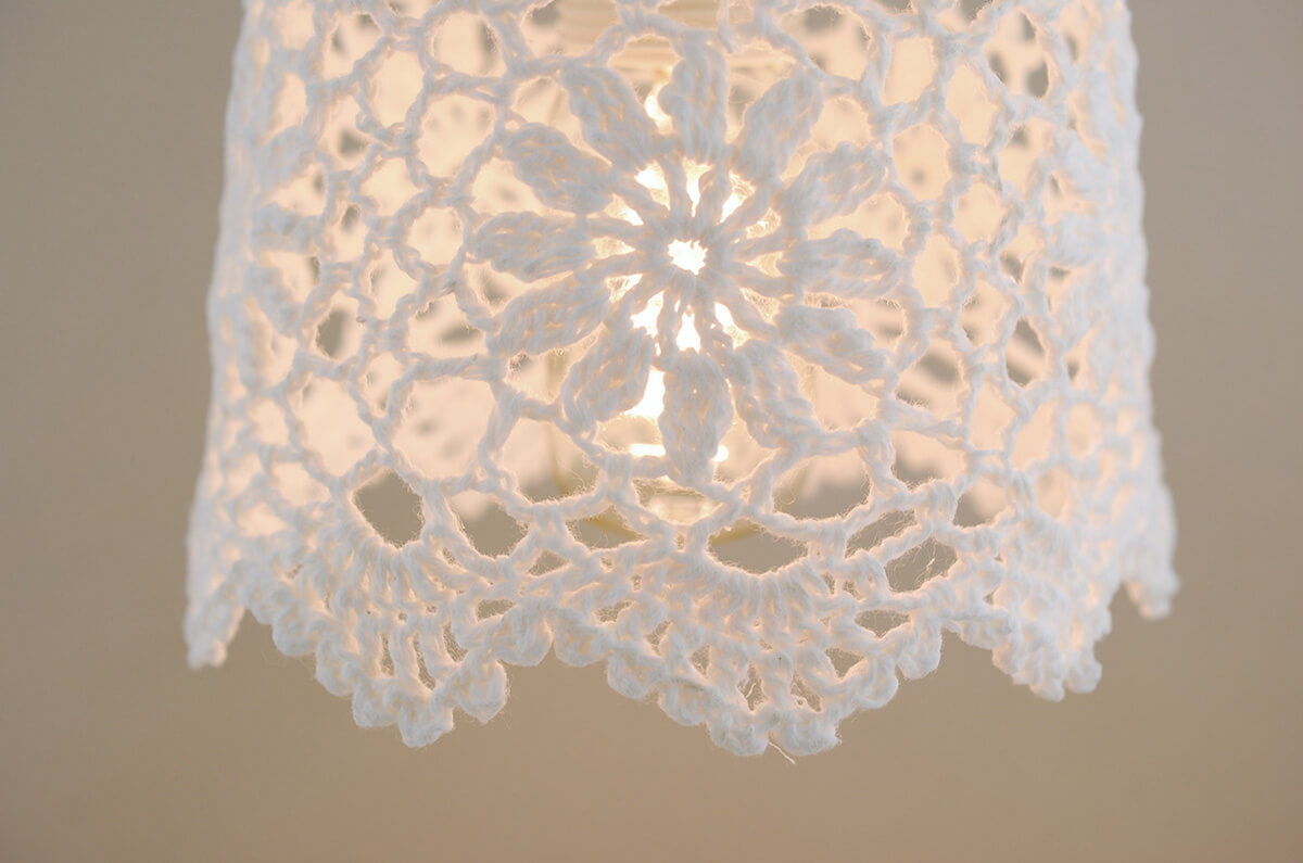 Lace Lampshade White 5 75in