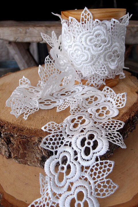 Floral Lace Crocheted Ribbon Trim