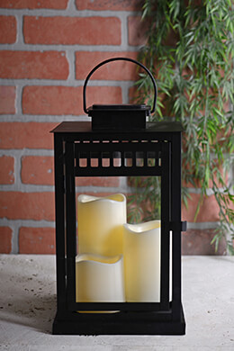 Solar Lantern with 3 Flameless Candles