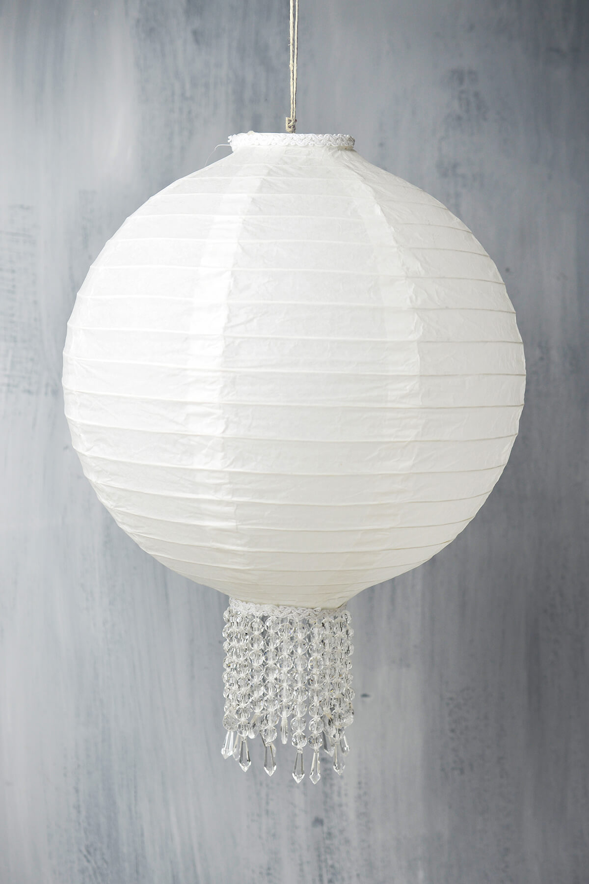 Crystal 12 White Wedding Paper Lanterns Paper