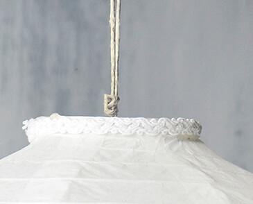 """Crystal 16"""" White Wedding Paper Lanterns"""