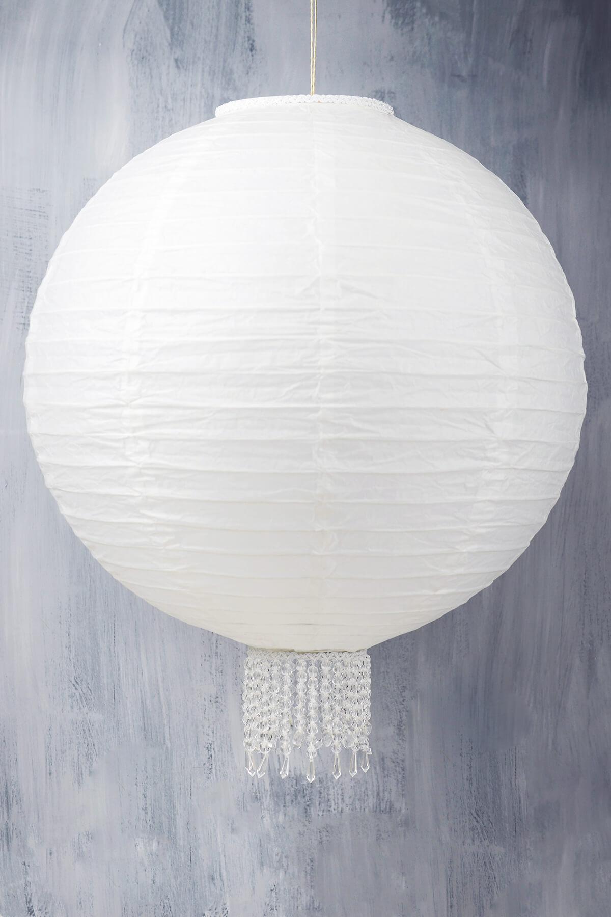 """Crystal 20"""" White Wedding Paper Lanterns"""