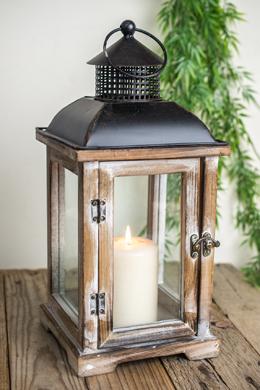 Whitewashed Windowpane Lantern