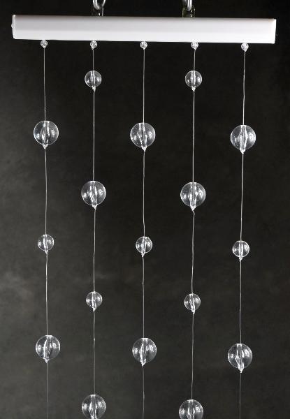 Crystal Ball Globe Hanging Curtains 1 ' x 6' Long