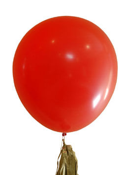 "2 Giant 36"" Red Balloons"