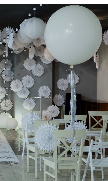 Large White Balloons