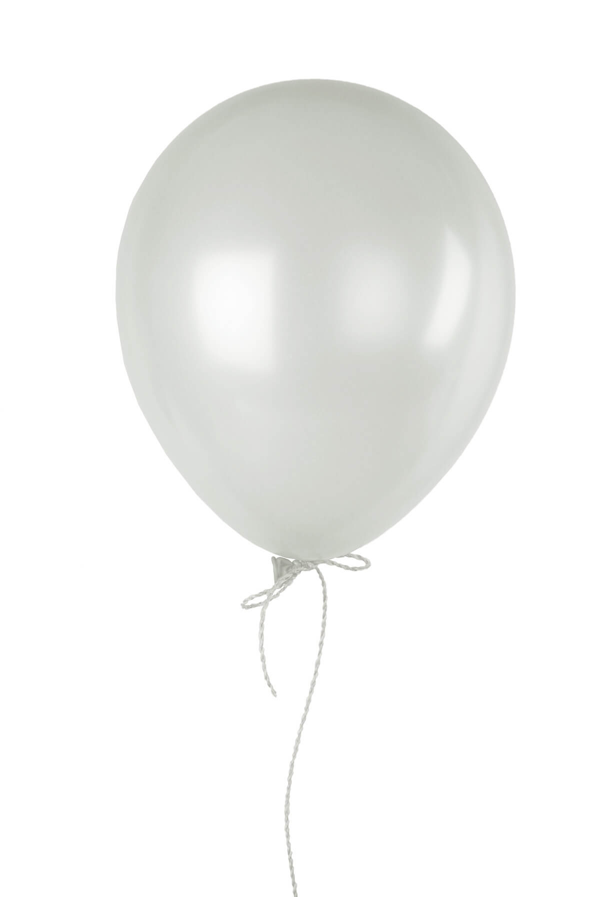 72 White 17 Quot Balloons Crystal Finish Clear