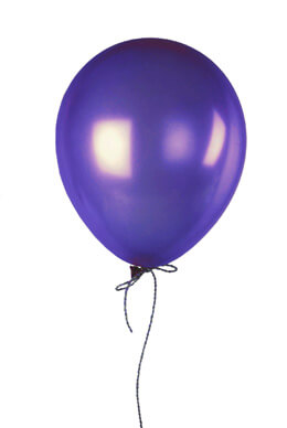 "72 Purple 17"" Balloons, Crystal Finish"