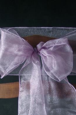 10 Organza Chair Sashes Lavender