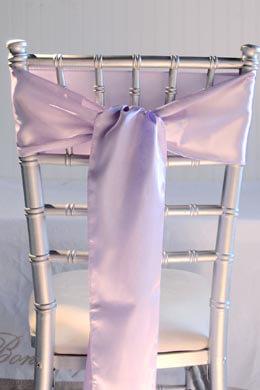 10 Lavender Satin Chair Sashes 6x108