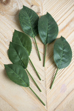 Silk Rose Leaves 2 Styles (12 pack) Corsage & Boutonniere Supplies