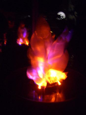 Cauldron Flame Light LED Battery Operated Simulated Fire Burning Cauldron