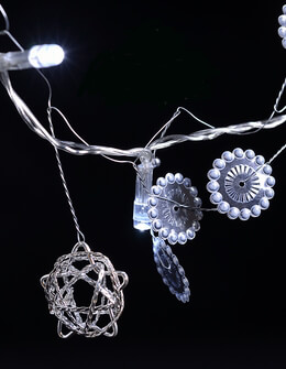 LED Battery Operated String Lights Steampunk 56in - 20ct