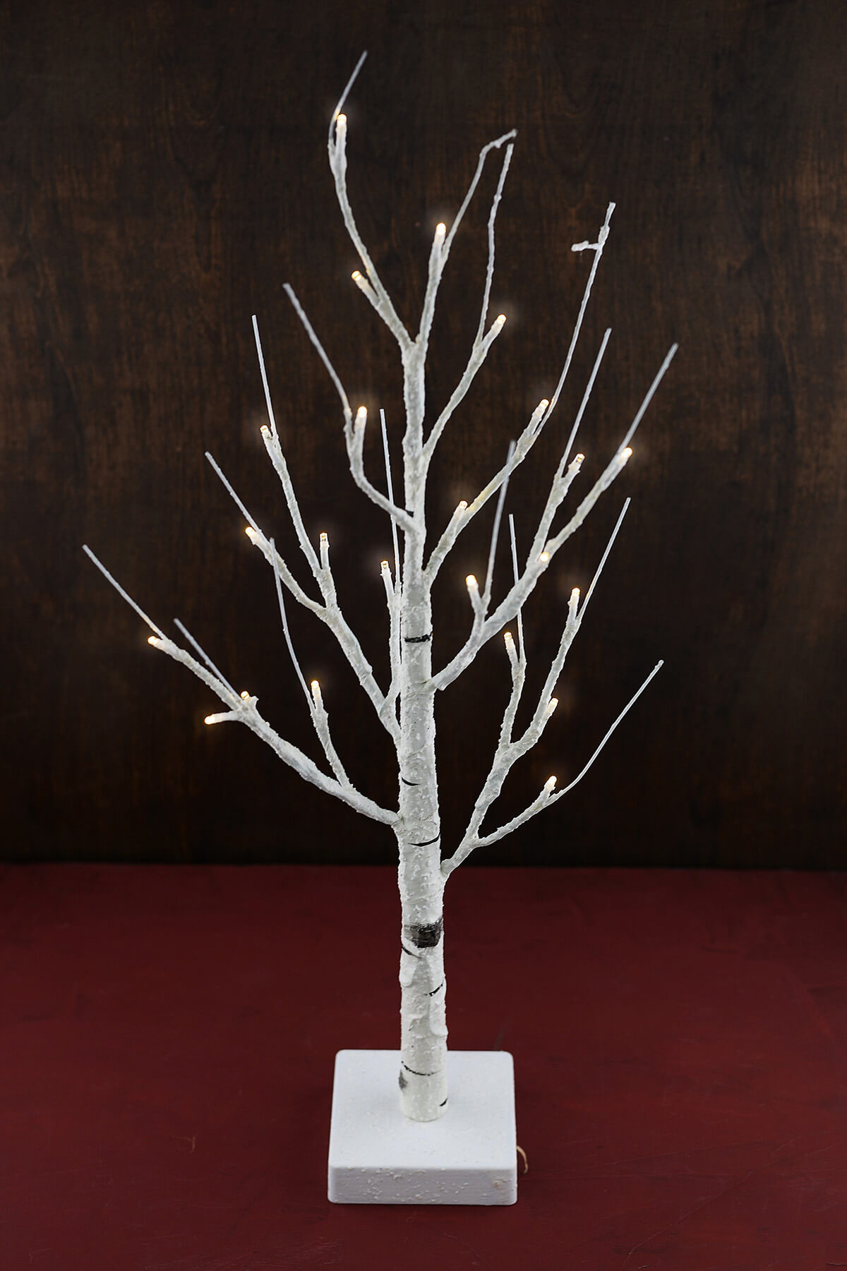 2 Lighted Led Birch Tree Warm White