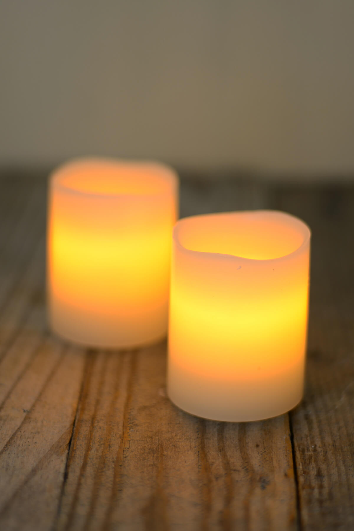 2 Led Black Wick 2 5 Quot Battery Op Pillar Candles