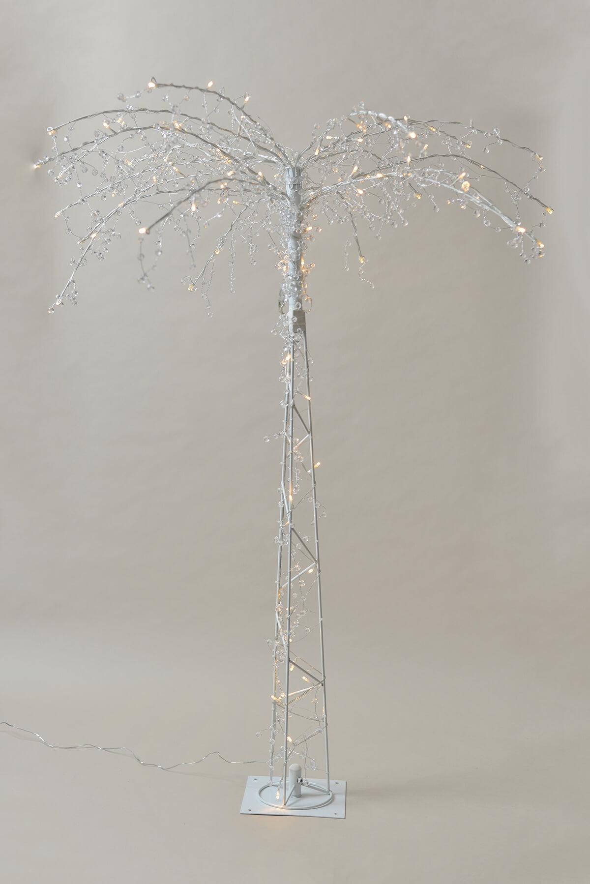 LED Crystal Palm Tree 4ft 100 White LED Lights, Gerson 92944