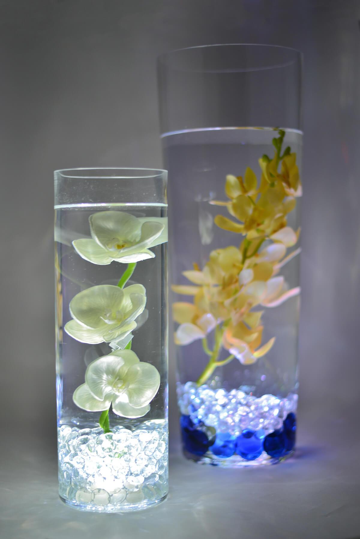 """LED Lighted 13-3/4"""" Glass Vase"""