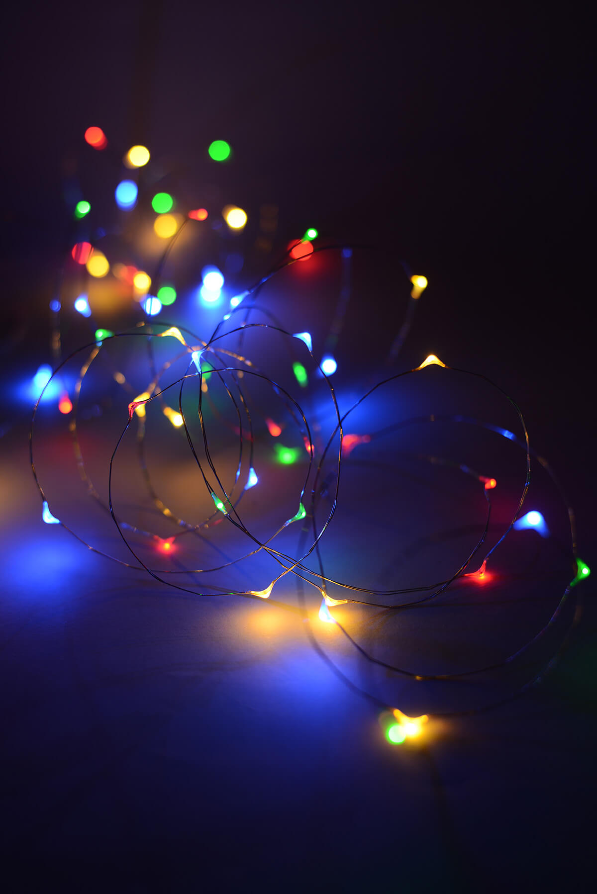 Led Fairy Lights Multi Color 20ft 60ct