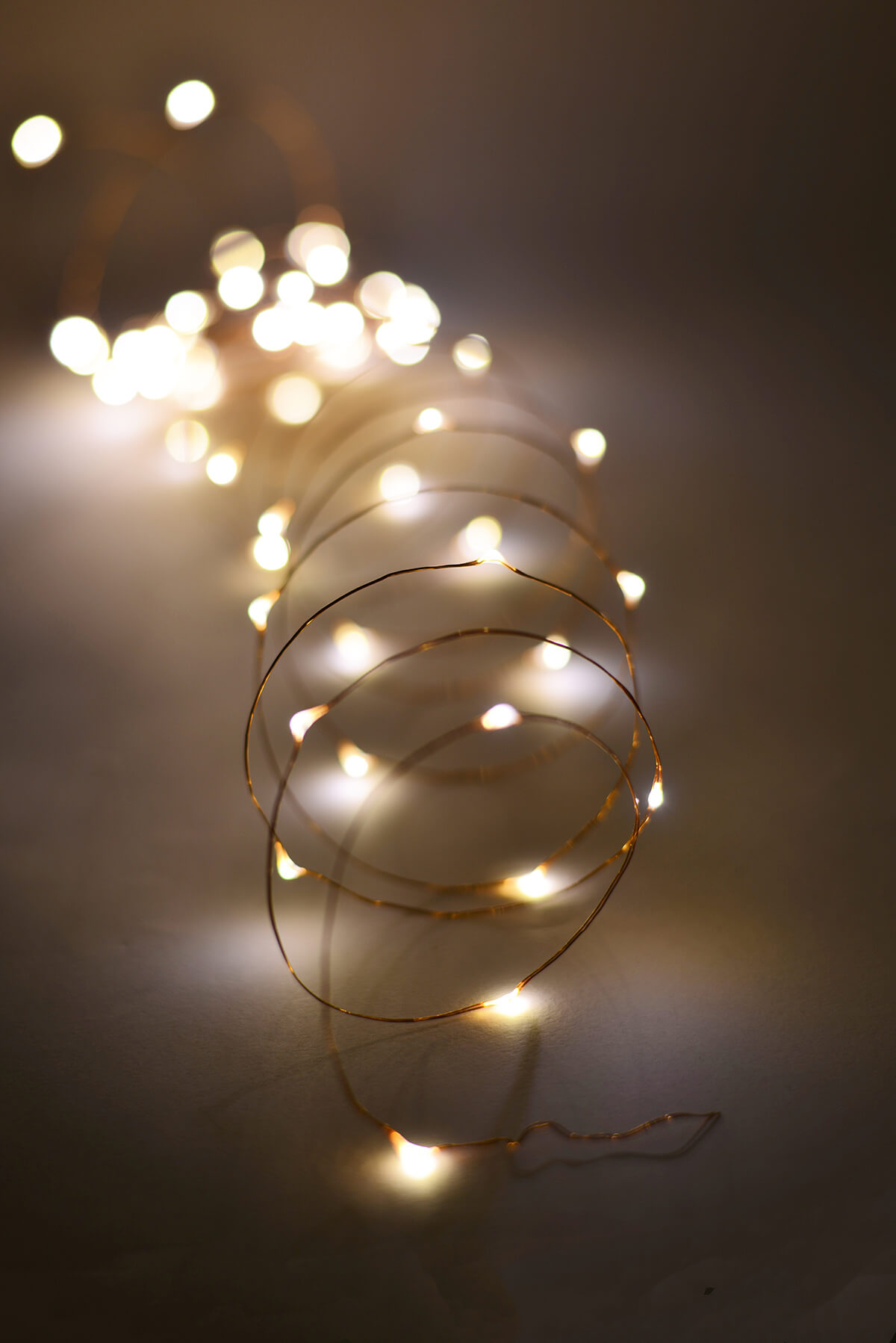 Outdoor Fairy Lights 20 FT Battery Op. 60 Warm White LED Light Strings Copper Wire