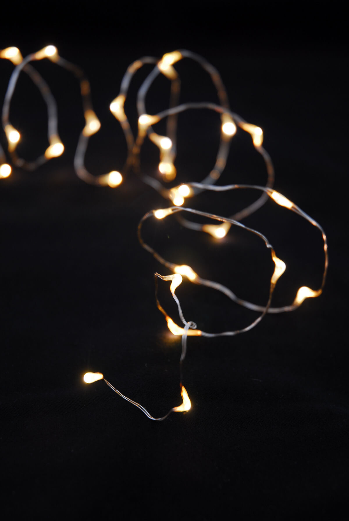 LED Warm White String Lights Battery Op. 7ft - 20ct Pack of 6