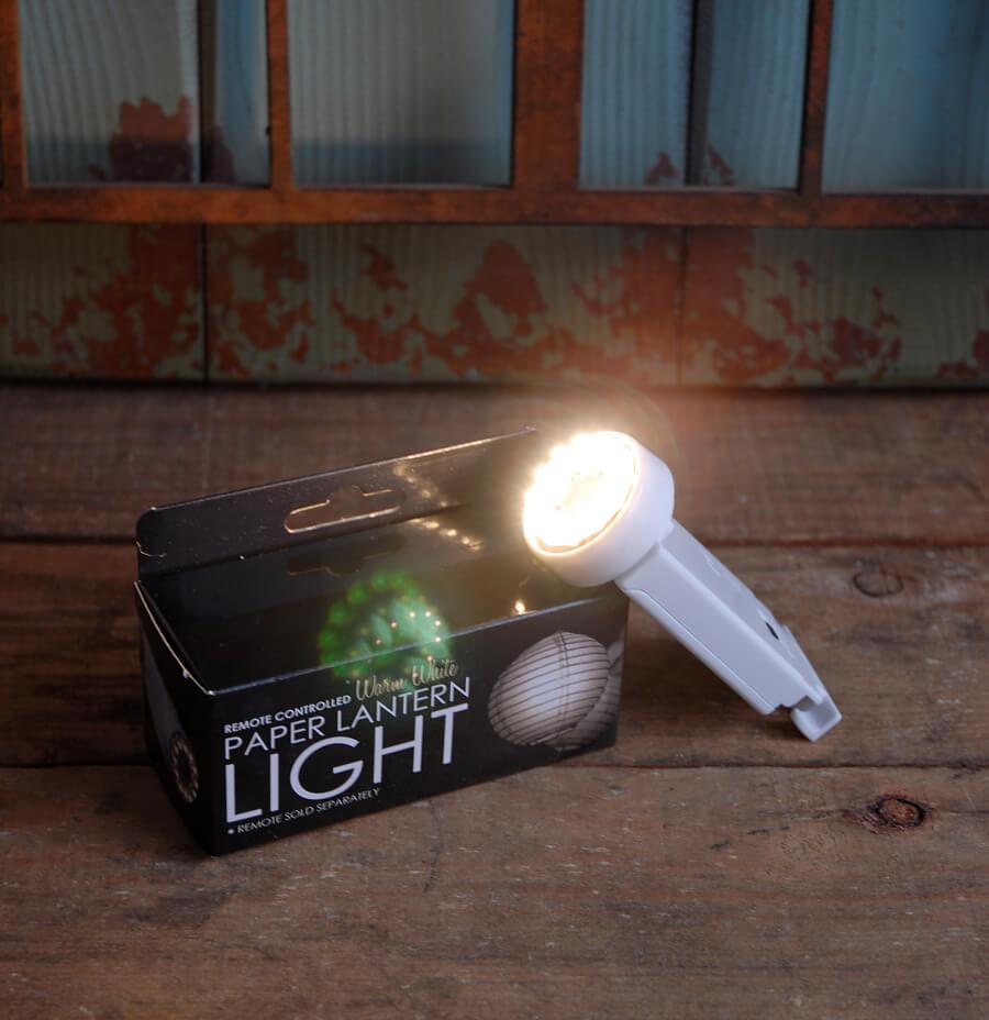 Remote Controlled Paper Lantern Light Warm White Pll 12ww Rc