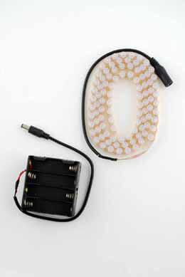 Waterproof 96 LED Flexible Light Strip String 3.1 FT, Battery Op.