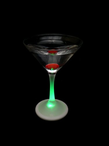 light up martini glass real glass rgb