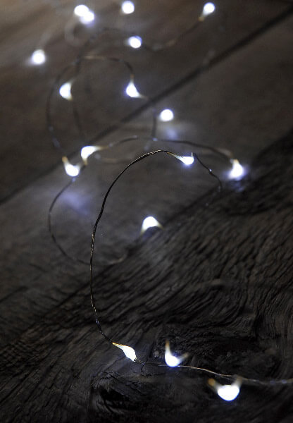Cool White Micro Led Lighted Strands Battery Op 11ft 24ct
