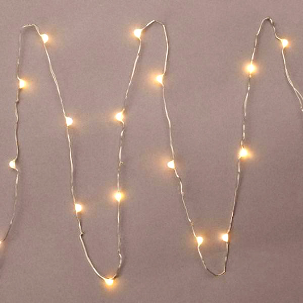 Accents White Led String Lights Battery Operated : Everlasting Glow LED Micro Light String 18 Warm White 36
