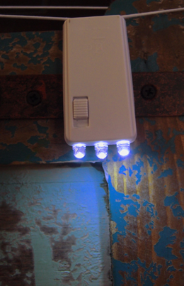 Battery Operated Lantern Light Blue LED