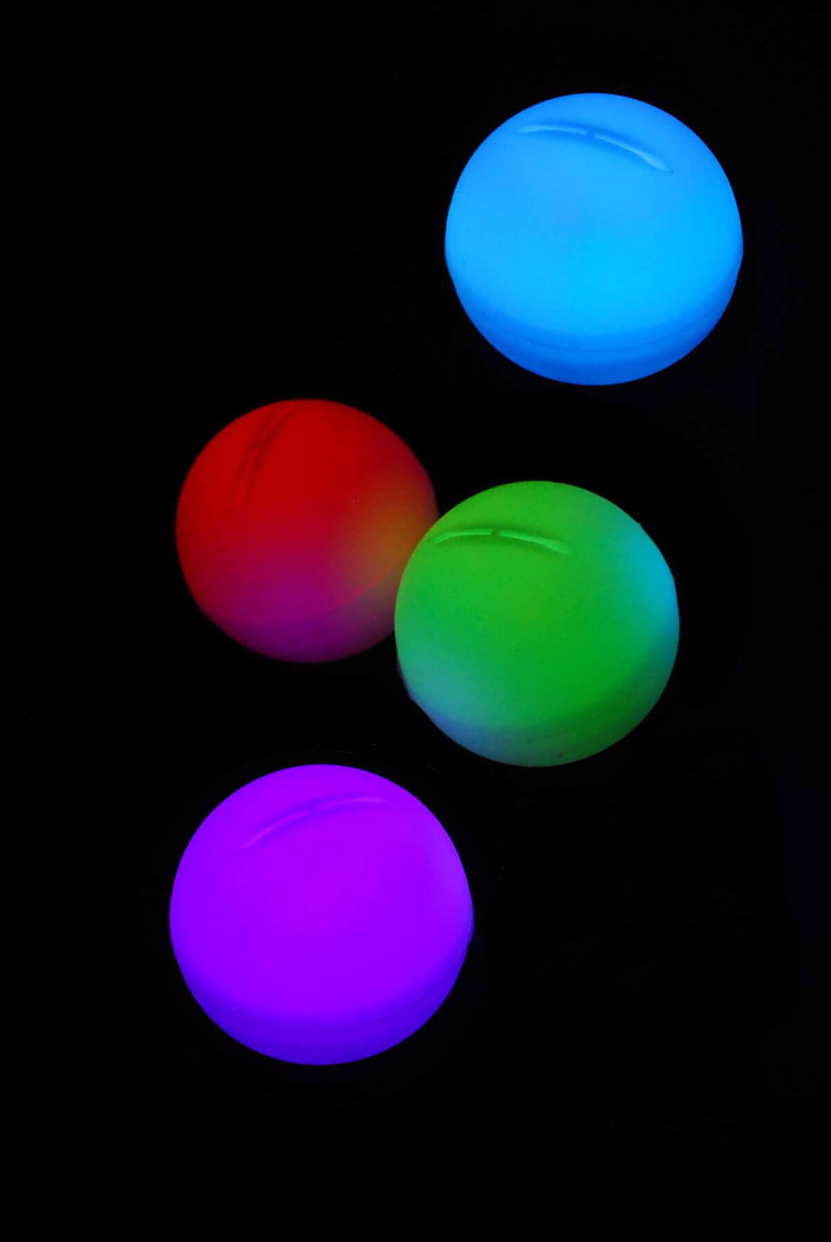 4 LED Color Changing Enchanted Mood Lights Orbs 2 ...